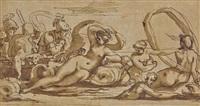 thétis et les néréides guidant l'argo entre charybde et scylla by agostino carracci