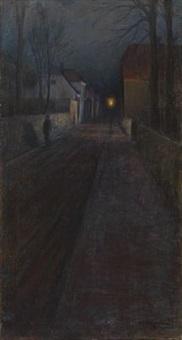 aften / gammel gate i bergen (regn) by arne kavli