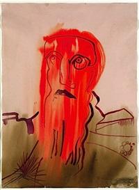 portrait d'homme en colère by rokni haerizadeh