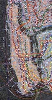 nyc transit by paula scher