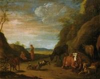 scène pastorale by johannes van der bent