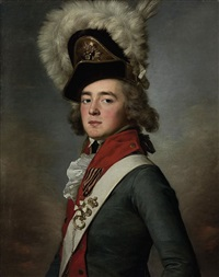portrait of brigadier valerian aleksandrovich zubov wearing the order of saint george, fourth class by jean voilles