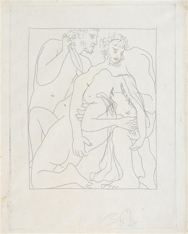 amours de jupiter et de semele from les metamorphoses dovide by pablo picasso