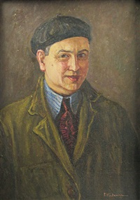 selfportrait whit beret by partog vartanian