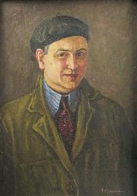 selfportrait whit beret by partog vartanian