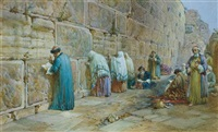 the jew's wailing place, jerusalem by william simpson
