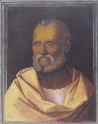 head of a saint (saint peter?) by giovanni agostino da lodi