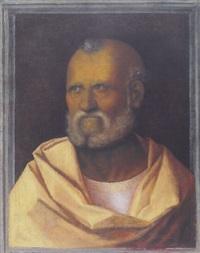 head of a saint (saint peter?) by giovanni agostino da lodi