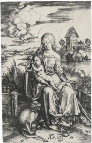 the virgin and child with the monkey by albrecht dürer