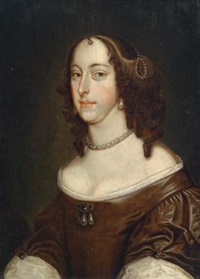 porträt einer dame, traditionell identifiziert als margaret, lady culpeper (née van hesse) by abraham lambertsz jacobsz van den tempel