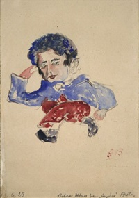 portrait de robert desnos by andré breton
