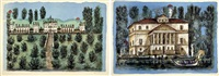 ville venete (portfolio of 12 works) by tono zancanaro
