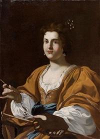 portrait d'artemisia gentileschi by simon vouet