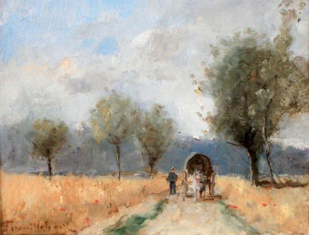 la cariole sur le chemin de campagne by paul désiré trouillebert