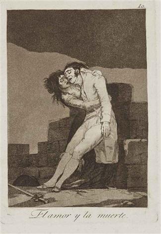 el amor y la muerte plate 10 from los caprichos que viene el coco plate 3 from los caprichos 2 works by francisco de goya