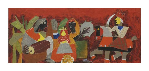 untitled dolls wedding by maqbool fida husain