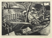 dyke by the road by paul nash