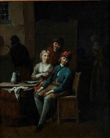 couples attablés pair by jan baptist lambrechts