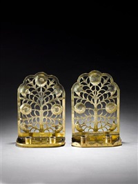 candle wall bracket (pair) by ernest william gimson