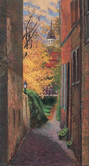 small alley in holland by lin minggang