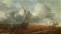 marine par temps agité by hans (johan) goderis