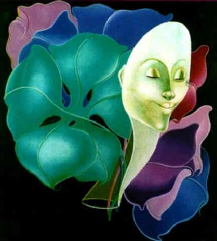 femme fleur by bernard séjourné