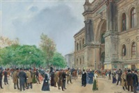jour d'ouverture au salon (the opening day of the salon) by jean béraud