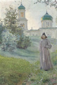 monk by the savvino-storozhevskii monastery in zvenigorod by maria vasilevna jakunchikova