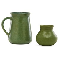 pitcher and vase (2 works) by merrimac