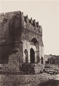jérusalem, porte de la citadelle by auguste salzmann