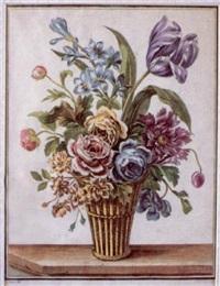 florero con tulipán by louis tessier