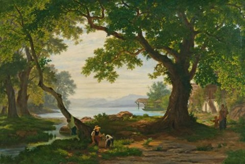 am sempachersee at lake sempach by robert zünd