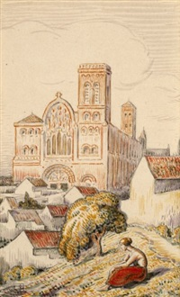 la basilique (3 works, various sizes) by paul-emile colin