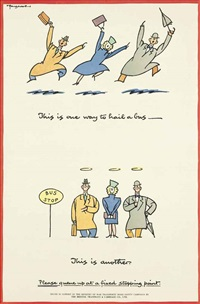 this is one way to hail a bus ...(4 works) by fougasse (cyril kenneth bird)
