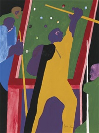 games-pocket pool by jacob lawrence