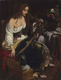 a female allegory by giovanni bilivert