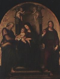 madonna con il bambino fra san matteo e san giovanni evangelista by andrea sabbatini