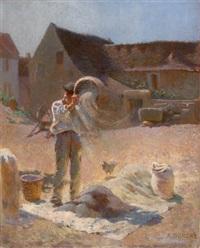 le battage du grain by adolphe ernest gumery
