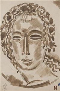 portrait de femme by rené buthaud