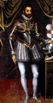 ritratto del duca emanuele filiberto di savoia by giacomo (jacopo) d' argenta