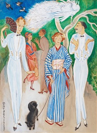 påfåglar (peacocks) by nils von dardel