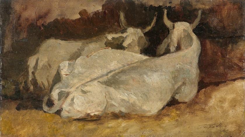 liegende kühe by giovanni fattori