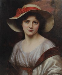 portrait of a young lady by abbey altson