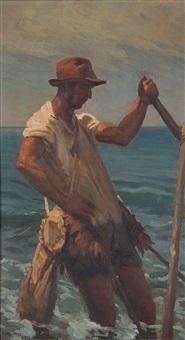 pescatore di arselle by augusto bastianini