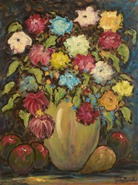 still life - flowers and fruit by gladys maccabe