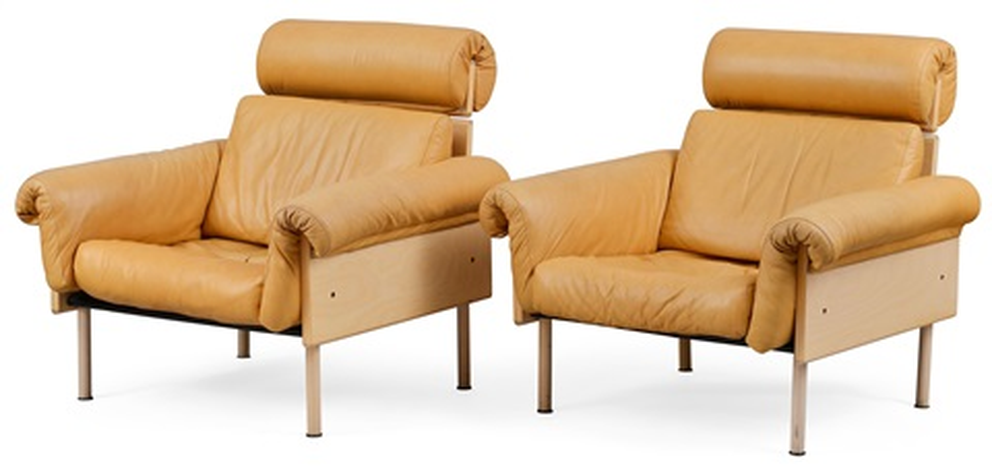 easy chairs pair by yrjö kukkapuro