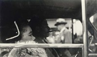 couple in car by leon levinstein