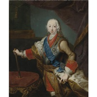 portrait of the great prince peter fedorovich by georg khristopher groot