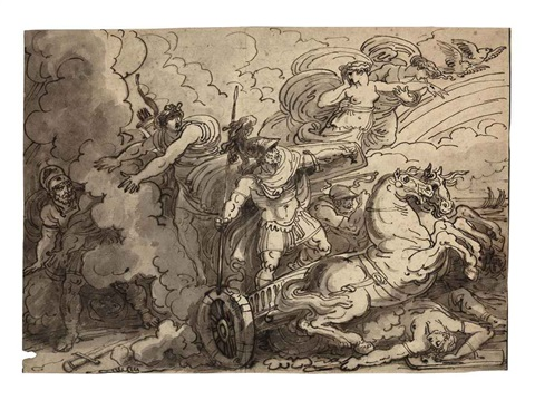 achilles hastening to avenge the death of patroclus by felice giani