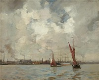 shipping off the dutch coast by james campbell noble